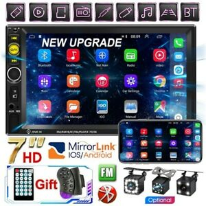 7'' Double DIN Car Stereo Radio Camera TF MP5 Player Mirror Link For Andriod IOS