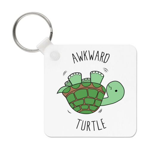 Funny Awkward Turtle Keyring Key Chain