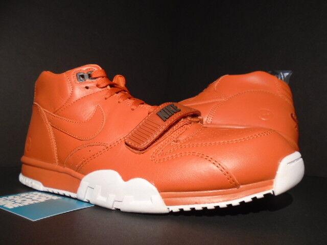 Nike air trainer 1 mitte sp fragment design hiroshi fujiwara rost orange - weiße.