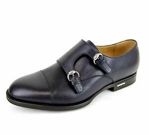 69e9c6152387e $660 New Gucci Leather Loafer w/Double Horsebit Buckle size 7.5/8 ...