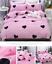 Heart-Print-Pink-Bedding-Set-Duvet-Quilt-Cover-Sheet-Pillow-Case-Four-Piece-HOT thumbnail 2
