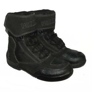 SUPER-034-PROBIKER-034-Schnuer-Stiefel-Biker-Boots-in-schwarz-in-Gr-40