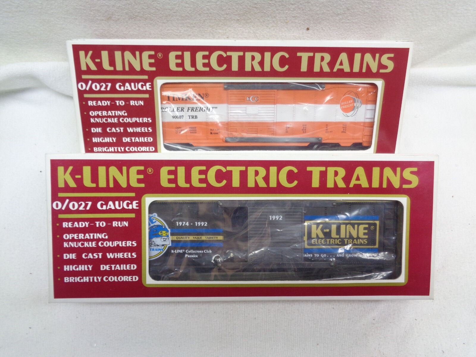 1992 K-line Members Hopper Collectors Club Plus Timkin Boxcars