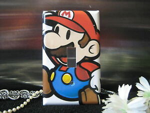super paper mario bros light switch wall plate cover 1 variations
