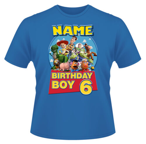 Toy Story Birthday Personalised Boys Girls T-Shirt Age 6 Ideal Gift//Present