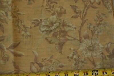 "Large Lavender /& Peach Floral on Cream Cotton,Wamsutta,P2854 22/"" Long Vintage"