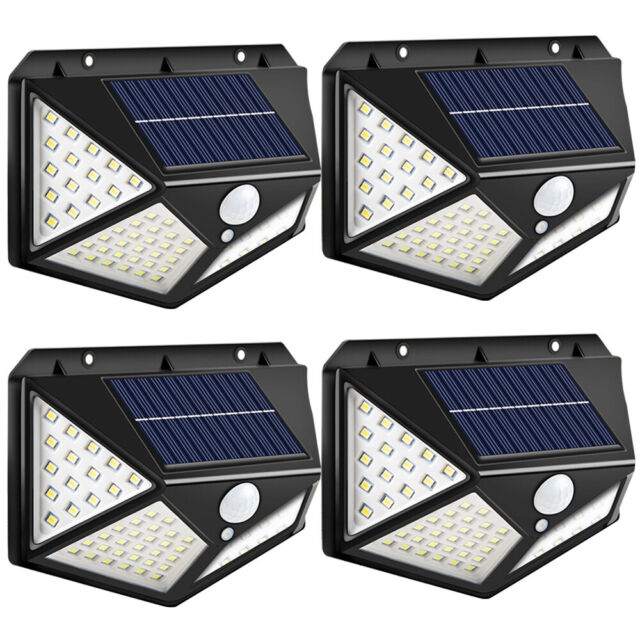 Solar Lights Outdoor Motion Sensor New Upgrade 268 LEDs Solar Security Light IP65 Waterproof Led Outdoor Lights Super Bright Solar Wireless Wall Lights with 3 Optional Modes and 4Wide Angle(2 Pack)