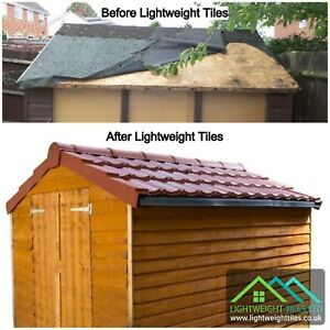 Shed roof tile kit 6x4 pan tile roofing sheets recycled ridge dry image is loading shed roof tile kit 6x4 pan tile roofing ppazfo
