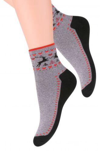 2c0620ccbcd9f Chaussettes sport coton femme bouclette motifs Norvégien Steven 35/37 38/40  Bas, collants et chaussettes ...