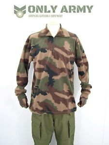 French-Army-Lightweight-Fleece-Jumper-Micro-Fleece-CCE-Camouflage-Thermal-Top