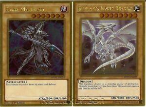 Dark Magician Ultra Rare 2 Card Set Yugioh Blue Eyes White Dragon