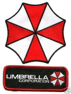 TAG  PATCH RESIDENT EVIL UMBRELLA CORP RED//BLACK