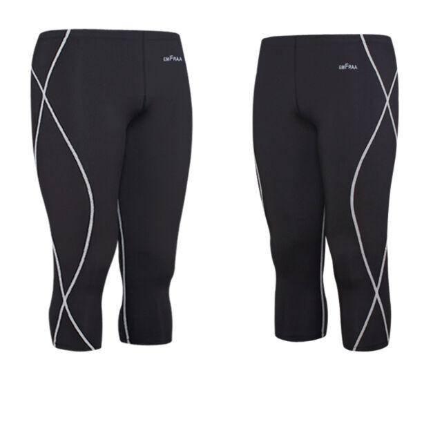 EMFRAA mens skin compression Top,shorts,pants tights baselayer clothing S~2XL