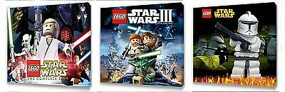 Lego Star Wars Kids canvas wall art plaque pictures set of three pack