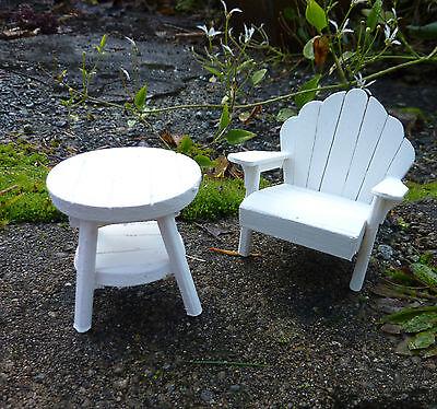 Closeout Dollhouse Miniature Garden Adirondack Chair
