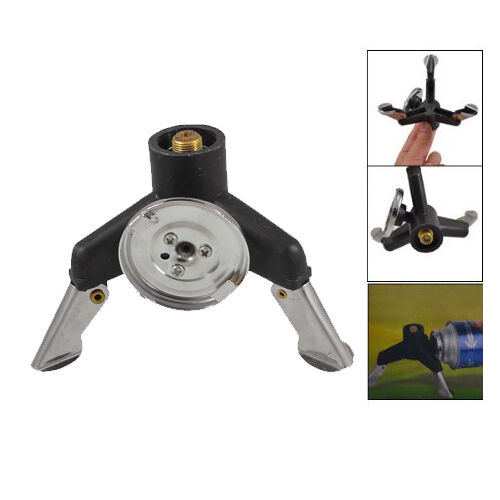 Three-leg Transfer Head Adaptor Nozzle Bottle Screw gate Camping Stove Gear N3