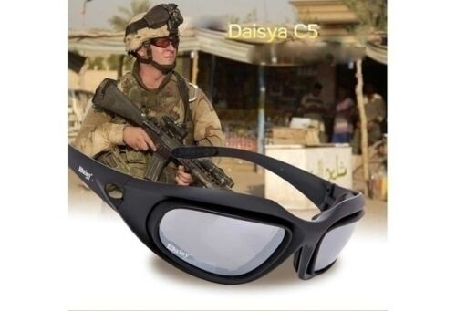 Daisy C5 4 Lenses Military UVB Goggles Hunting Sunglasses Motorcycle Sunglasses