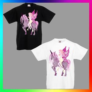 Unicorn fairytshirt T-shirt Tee Enfants Unisexe Enfants Mignon Pegasus Fantasy Fairy