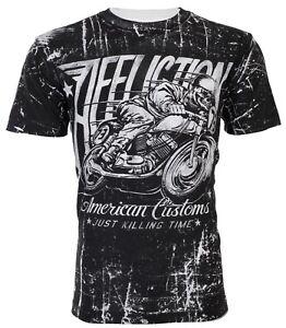 AFFLICTION-Mens-T-Shirt-HELL-RACER-American-Customs-Motorcycle-Biker-UFC-58