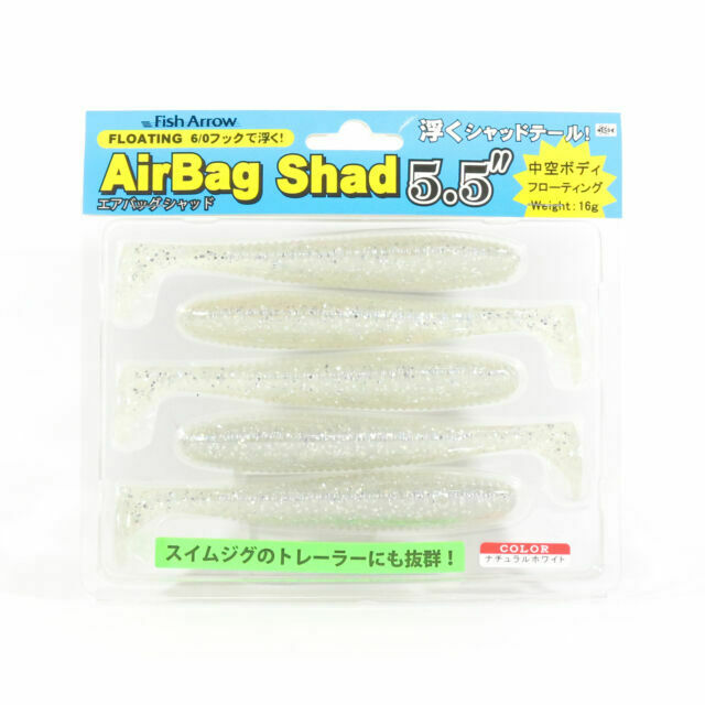Fish Arrow Soft Lure Air Bag Shad 5.5 Inch 5 Piece per pack #14 3289