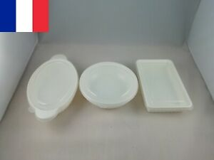 Lot 2 X Boîte micro-ondes boites plastique micro-ondables 0,65 à 0,75L au choix