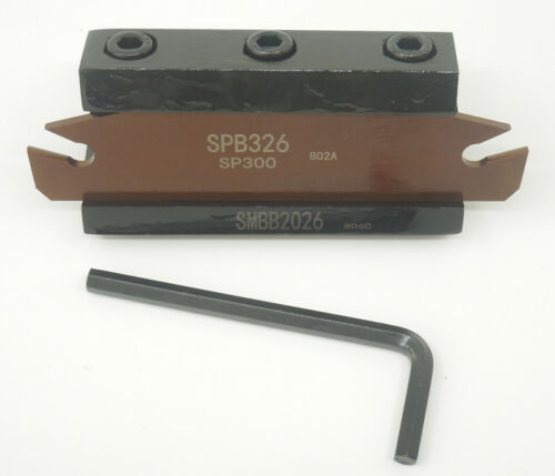 3 SPB326 SPB26-3mm Grooving Parting Blade SMBB2026 Cut off Block Tool holder