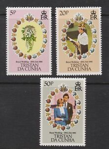 1981-Royal-Wedding-Charles-amp-Diana-MNH-Stamp-Set-Tristan-Da-Cunha-SG-308-310