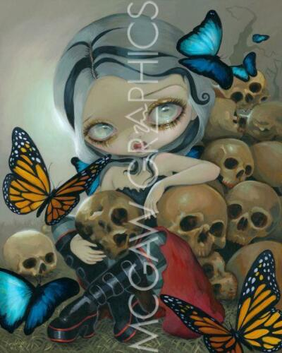 FANTASY ART PRINT Butterflies and Bones Jasmine Becket-Griffith