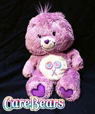 "CARE BEAR 12"" COZY CUDDLE SOFT Purple Share Bear LOLLIPOP 2005 Plush Stuffed Toy"