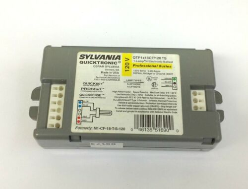 18W T4 Lamp 1 Sylvania QTP1x18CF//120 TS Compact Fluorescent Ballast for