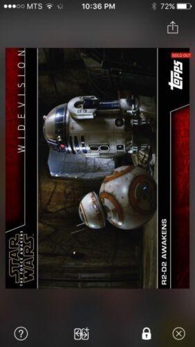 Topps Star Wars Digital Card Trader R2-D2 Awakens Widevision Insert