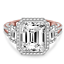 thumbnail 2 - 4.50 Ct Emerald Moissanite Anniversary Wedding Ring 18K Solid Rose Gold Size 7