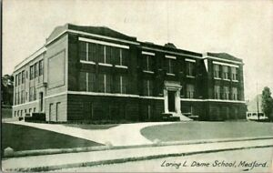 1915-MEDFORD-MASS-LORING-L-DAME-SCHOOL-POSTCARD-KK1