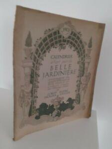 Calendario 1913 La Bella Vaso Giardiniera Di Corot Dupré Droauis-Greuze 4 Stampe