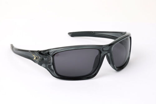 Matrix Match Fishing Wraps Trans Black Frame Grey Lens Polarised Sunglasses
