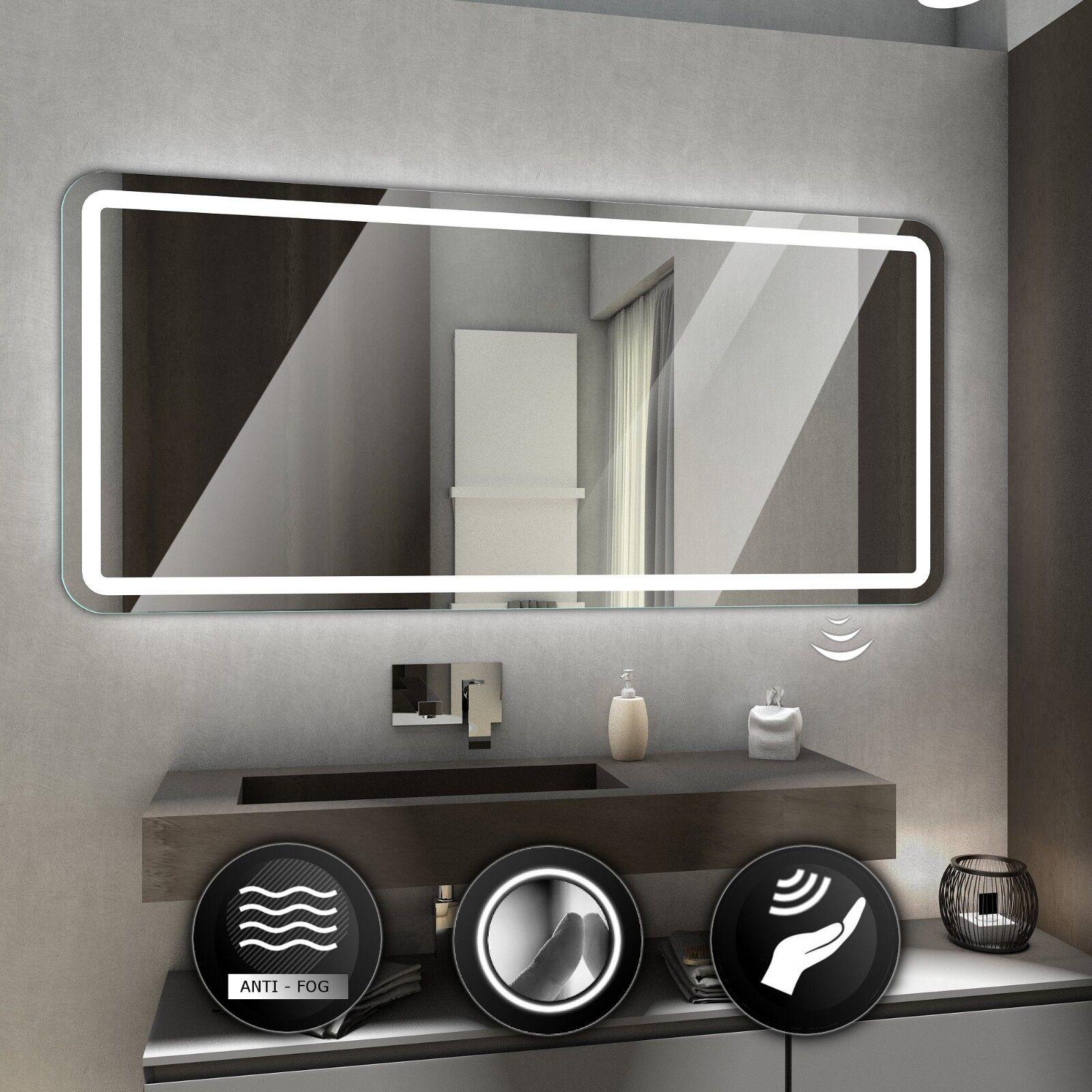 Madrid Illuminé DEL Miroir de Salle de Bain Mur Miroir   Commutateurs   désembuage