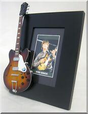 JOHN LENNON  Miniature Guitar Frame Beatles Casino