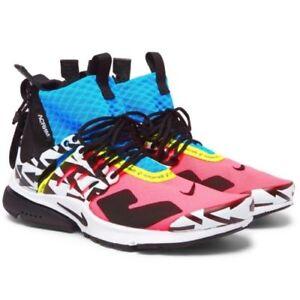 Intelligent Nike Air Presto Mid X Acronym Racer Rose! Taille Uk6/us7! Deadstock!-afficher Le Titre D'origine Art De La Broderie Traditionnelle Exquise