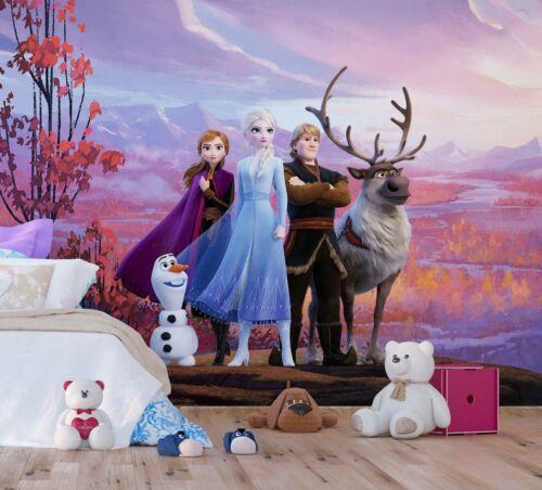 Children/'s bedroom wall mural wallpaper Frozen 2 Elsa Anna Disney PREMIUM blue