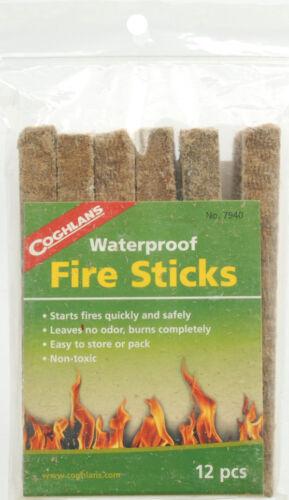 Non-Toxic No Odor Easy Light Coghlan/'s Fire Sticks Waterproof Fire Starters