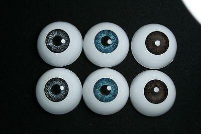 Reborn doll acrylic eyes 24 mm 3 pairs for bjd dollfie msd yosd minifee crafts