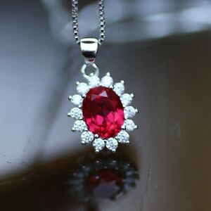 July Birthstone Necklace Ruby Necklace Ruby Jewelry Jewellery Ruby Pendant Ruby 15th 40th Anniversary Gift Ruby Anniversary  C46