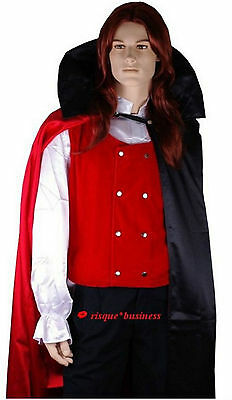 Mens Medieval Count Dracula Vampire Prince Fancy Dress Costume + Cape - M L XL