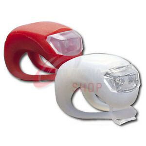 MOUNTAIN-BIKE-BICYCLE-FRONT-REAR-LIGHTS-SET-PUSH-CYCLE-LIGHT-CLIP-RED-amp-WHITE-LED