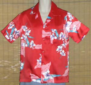Made In Hawaii Hawaiian Shirt Red Small
