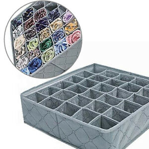 30-Grid-Underwear-Sock-Storage-Organizer-Drawer-Bra-Pants-Divider-Tidy-Wa-qwe