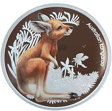Australia 2010 Bush Babies KANGAROO 1/2 Oz Proof Silver Coin