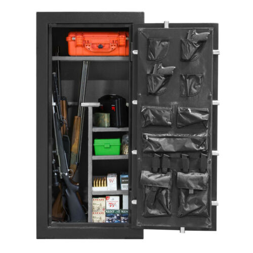 Fireproof Long Gun Safe Cabinet Storage for Shotgun Rifle w Keypad Lock 59X28X20
