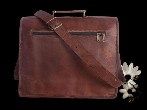 GVB/_leather Vintage Leather Messenger Bag Satchel Leather Men/'s Briefcase Laptop