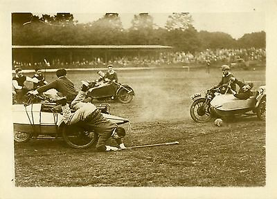 """une Partie De Polo En Side-cars 1931"" Photo Originale G. Devred (agce Rol) Levendig En Geweldig In Stijl"